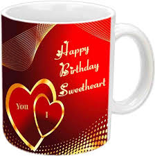 happy birthday design for mug jiya creation1 lovely design happy birthday white ceramic ceramic