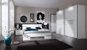 chambre a coucher blanc laqu étourdissant chambre à coucher blanc et noir et deco chambre coucher