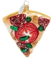 pizza glass ornament food themed tree ornaments