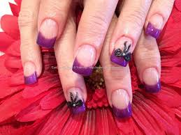 eye candy nails u0026 training purple gel tips with 3d acrylic bow