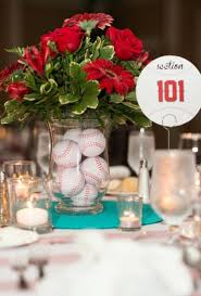 baseball centerpieces 21 baseball wedding theme ideas weddingomania