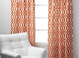 Orange And White Curtains Geo Panels Sunset Orange Curtains Sure Wish I Could Find These