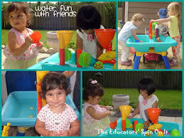 Water Table Toddler Water Fun With Babies And Toddlers The Educators U0027 Spin On It