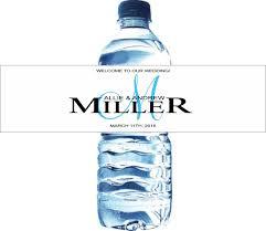 monogram water bottle labels for weddings