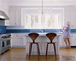 white kitchen cabinets with blue tiles blue white kitchen white cabinets blue tile n