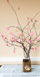 cherry blossom home decor diy stemmed cherry blossoms