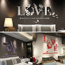 compare prices on sticker wall for mirrors online shopping buy love quote 3d acrylic mirror wall stickers wall decals poster home decoration background wall decor wallpaper