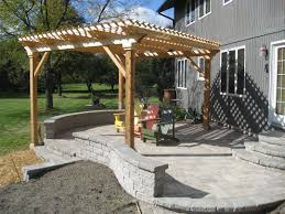 Screened In Pergola by Deck Gazebo Porch And Patio Builders Illinois Outback Builders