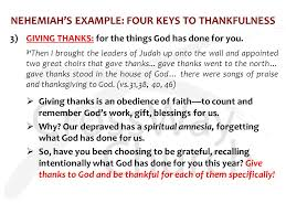 four to thankfulness a thanksgiving sunday message nehemiah