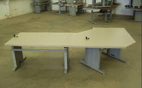 Workbench With Light Ki Adjustable Computer Table With Light Trim Gbros Inc