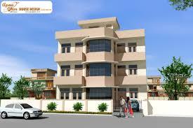 triplex house design apnaghar house plans 58181