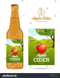 design sticker bottle apple cider vector stock vector 469533287