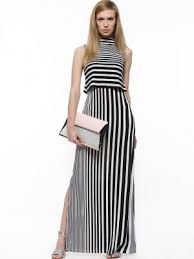 maxi dresses online buy graduated stripe maxi dress for women women s multi maxi