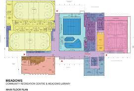 recreation center floor plan the meadows community recreation centre and the meadows library