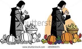 pilgrim chasing turkey thanksgiving dinner stock vector 318897869
