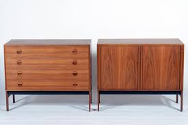 danish mid century teak wood chest and credenza 1955 for sale at