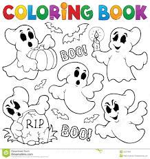 coloring book halloween theme royalty free stock images