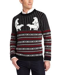 alex stevens men u0027s polar bear pair ugly christmas sweater at