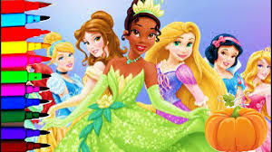 Disney Princess Halloween Coloring Pages by Disney Princess Halloween Coloring Book Pages Compilation Tiana