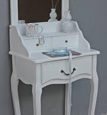 Schmaler Pc Tisch Schminktisch Konsole Spiegel Weiß Antik Landhaus Holz Frisiertisch