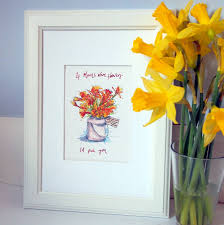 personalised bunch of flowers print by homemade house