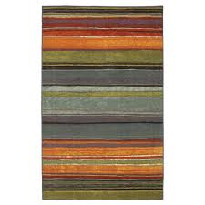 Orange And Brown Area Rugs 5 U0027 X 8 U0027 Rainbow Stripes Area Rug With Orange Blue Green Red Purple
