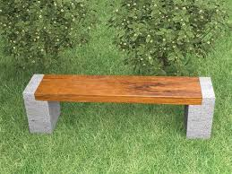 image result for wood and concrete bench garden ideas