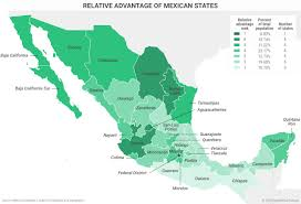 Map Of Durango Mexico by Relative Advantage Of Mexican States Geopolitical Futures