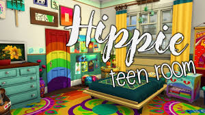 hippie teen room sims 4 speed room build parenthood game pack