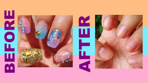 how to remove acrylic nails easy youtube