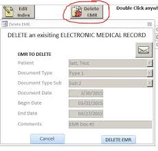 microsoft access emr template database
