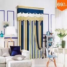 Royal Blue Curtains Yellow Line Linellae Royal Blue List Row Column Curtain Simple