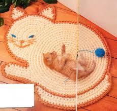 kitty cat rug crochet pattern feline cat rug mat crochet zoom