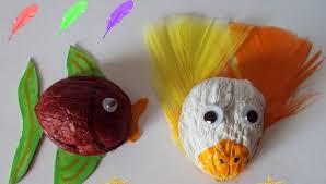 Seashell Craft Ideas For Kids - walnut shell craft idea for kids 2 от природни материали