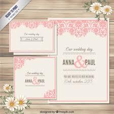 wedding invitation e card ornamental wedding invitation card vector free
