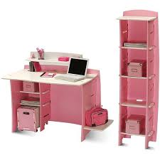 no tools assembly desk compact pink computer desk shelves pink office workplace 13