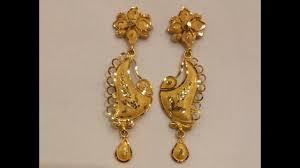 earrings models 22ct yellowgold drop new earrings designs goldplated hangings
