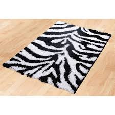 modern rectangle glam pink passion black and white area rug