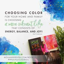 change your home change your life with color moll anderson