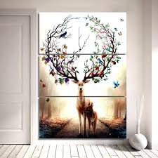 fake deer wall decor chic charming wall design faux deer antler wall mount