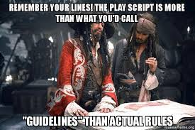 Meme Script - remember your lines the play script is more than what you d call