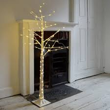 buy silver birch pre lit led trees the worm that turned