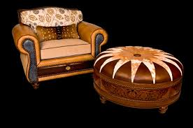 Cowhide Chairs And Ottomans Leather Occasional Chairs Leather Ottomans Cowhide Occasional