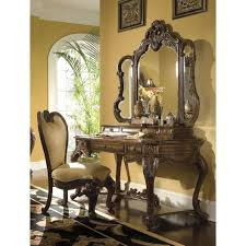 Home Office Writing Desks by Aico Palais Royale Vanity Writing Desk U0026 Mirror In Rococo Cognac