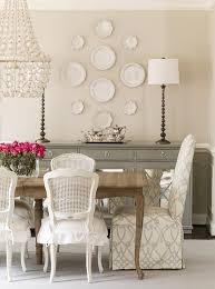 Cane Back Dining Room Chairs Gray Mirrored Sideboard Under Decorative Wall Plates