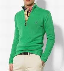 s sweater sale s sweater with half zip small polo sweater in green on sale