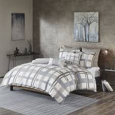 sterling plaid 3 piece comforter king set ii10 910 jla bedroom
