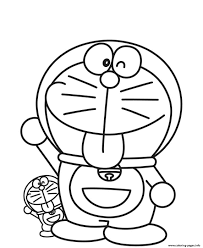 cartoon coloring pages big and litte doraemon cartoon s615a coloring pages printable