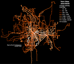 Map Of Twin Cities Metro Area by Metro Transit Ridership In One Map