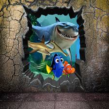 compare prices on fish bedroom decor online shopping buy low shark fish finding nemo wall sticker kids bedroom decoration 1438 diy print mural art 3d